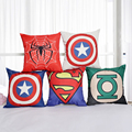 45x45cm Square Home Decorative Cartoon Marvel Heroes Superman Batman Iron Man Cushion Pillow Case Linen Throw Pillow Cover