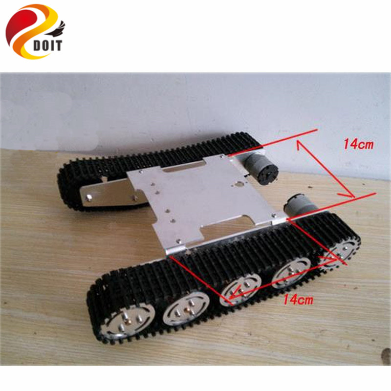 DOIT Update Version Tank Car Chassis Crawler Intelligent DIY Robot Electronic Toy ,Development Kit Tractor Toy cool intellectual development diy toy car black blue 2 aa