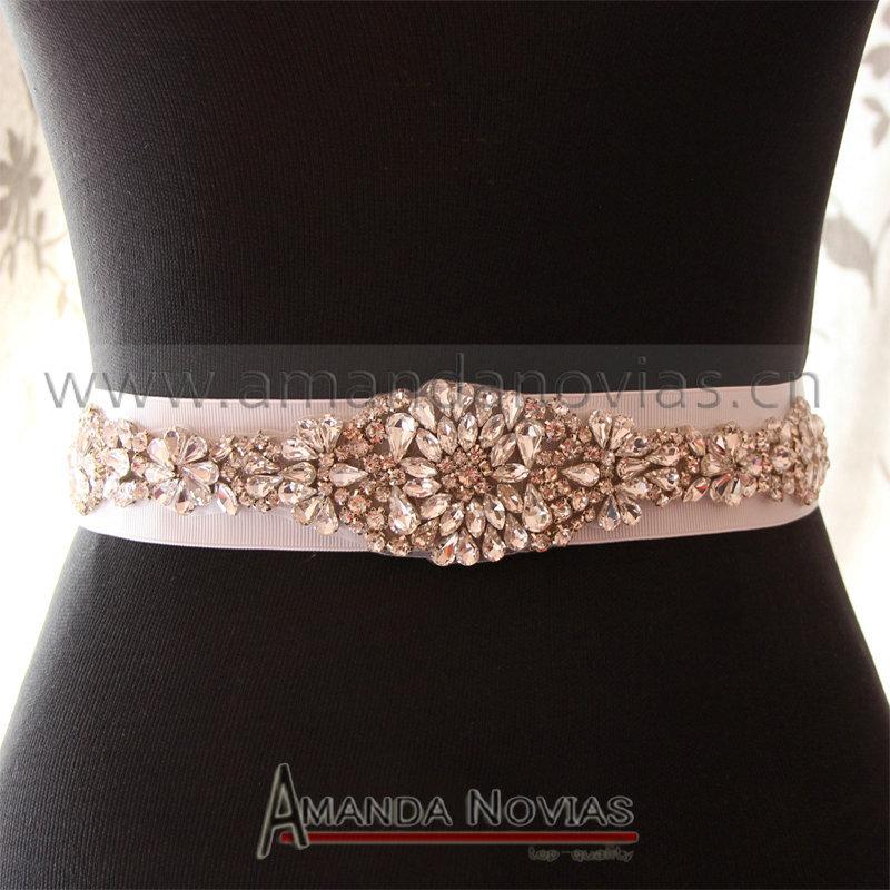 Free shipping Sparking crystal glass crystal wedding bridal belt