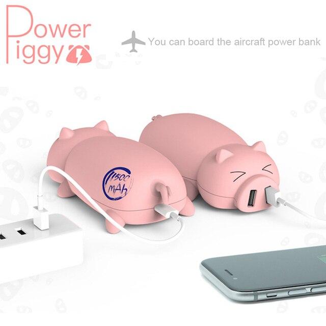 Милый поросенок Портативный Power Bank 10000 мАч Универсальный Внешняя Батарея Резервного Копирования Зарядное Устройство Подарок На День Рождения Для Мобильных Телефонов Для iphone