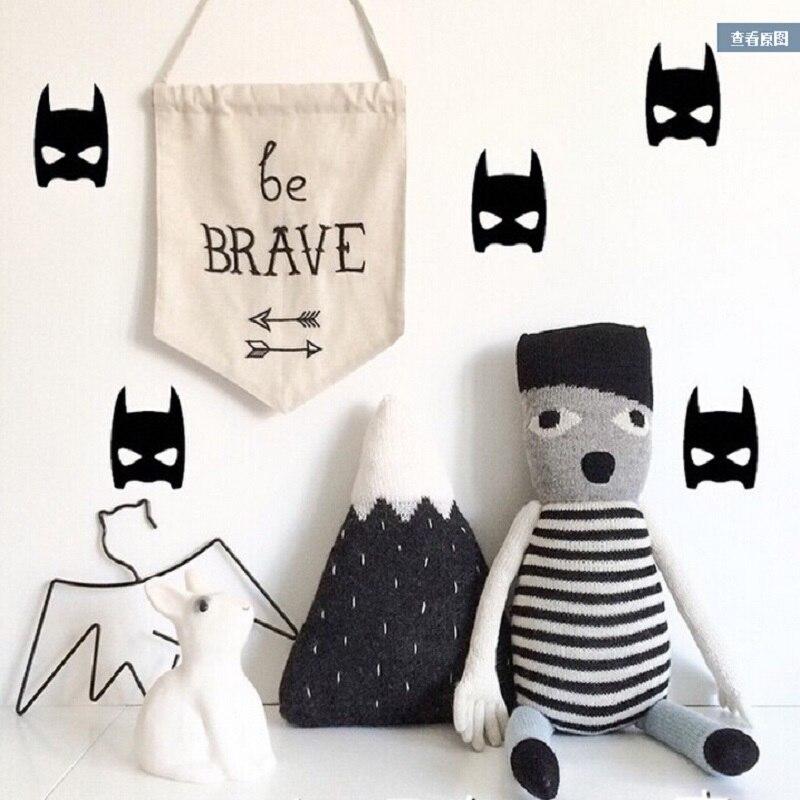 Bat man patterb baby Wall obtisk Samolepka postel pozadí obtisk Vyjímatelný materiál bez znečištění pro dětský pokoj dekorace