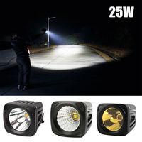 New Amber Led Car fog light lamp 12v 24v 25W Bright Offroad Spotlight Headlight 4x4 Led Driving Bulb Motorcycle Truck Work lamp