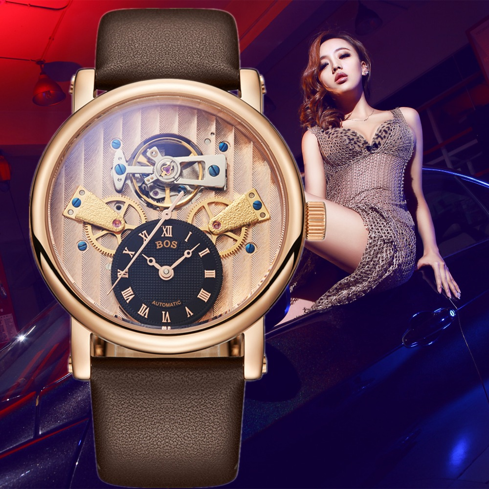 Reloj Hombre ANGELA BOS Luxury Brand Gold Automatic Watch Mens Waterproof Sapphire Dress Mechanical Wrist Watches Clock Man 2019