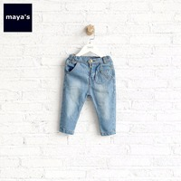Mayas Light Blue Vintage Boys Jeans Children Cotton Soft Breathable Denim Pants Toddler Spring Summer New Basic Leggings 75133