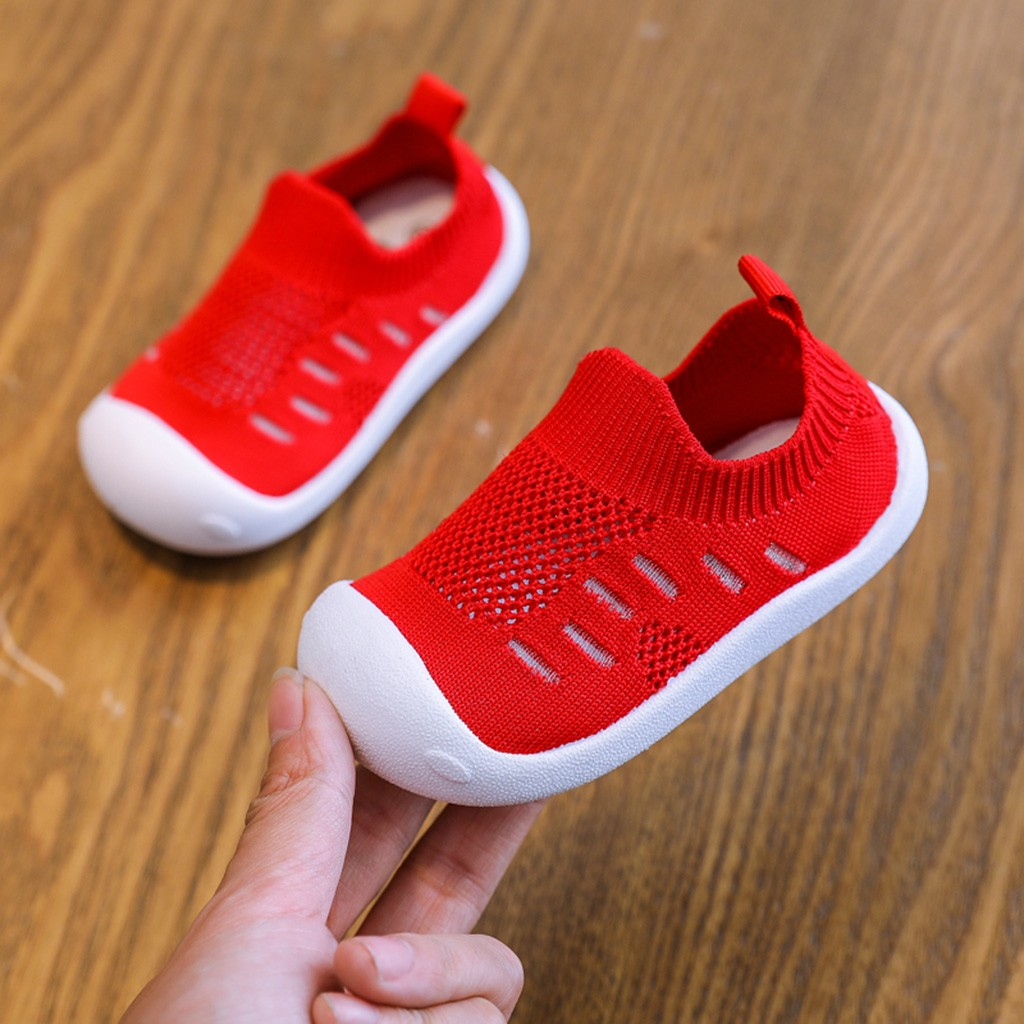 Shoes Girl Spring Soft-Bottom Babtoddler Comfortable Casual Boy Non-Slip Mesh title=