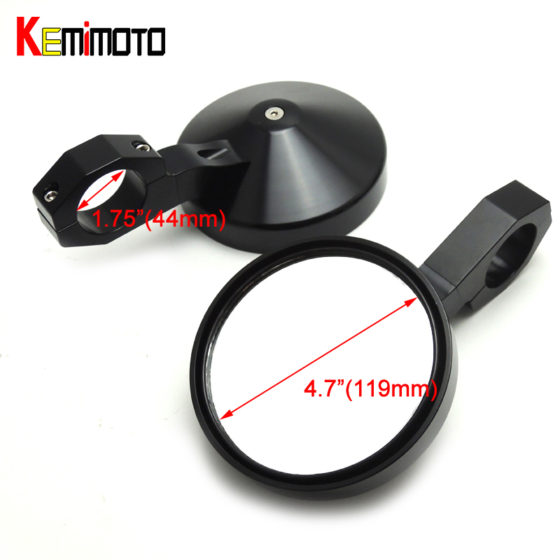 KEMiMOTO Rear view mirror UTV wide view Mirror Adjustable 1.75 Heavy Duty Round Side Mirror for Polaris RZR Ranger XP 4 1000 adjustable 2 heavy duty round sport mirror for polaris rzr 900 570 800 1000 ranger xp 4 for john deere gator hpx xuv