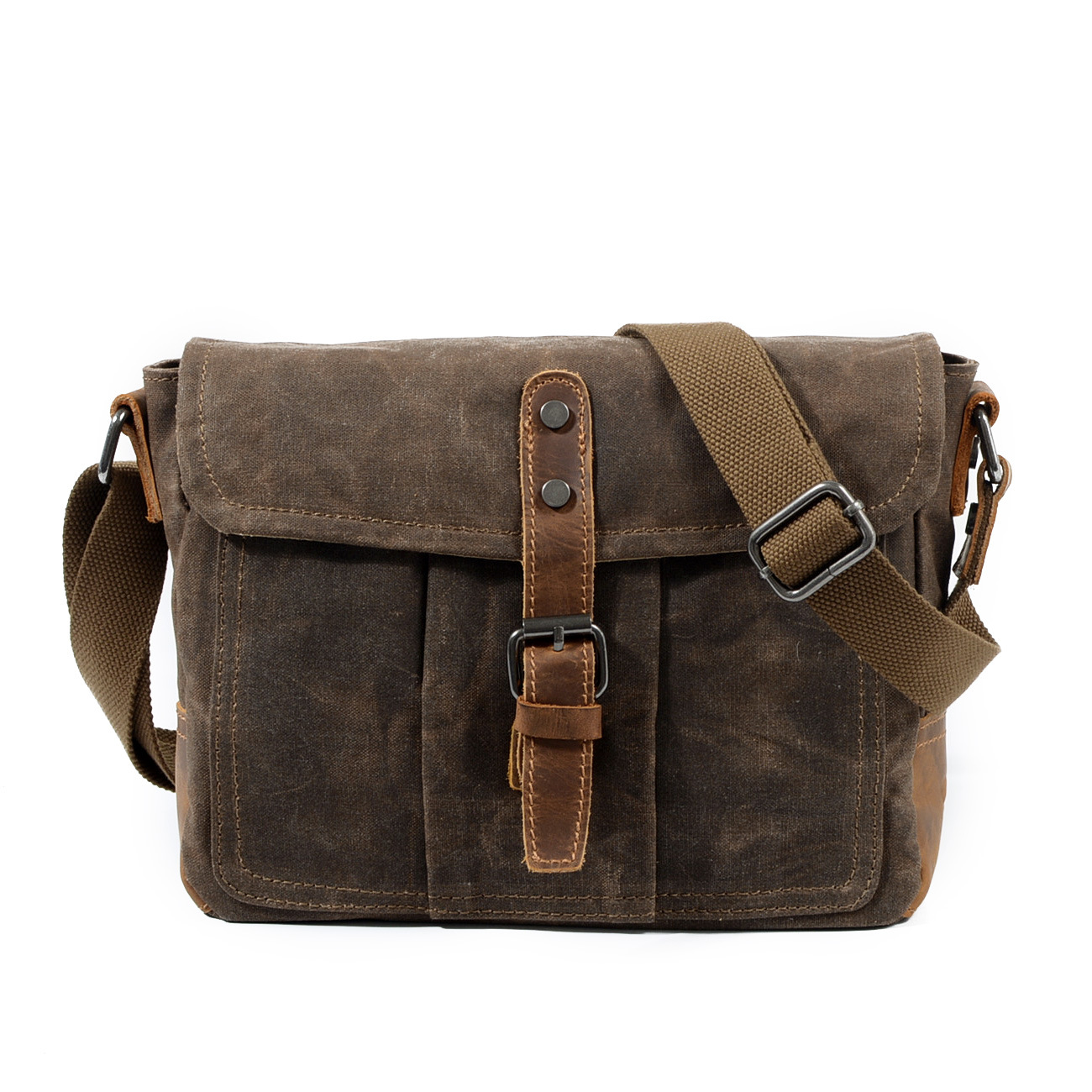 Us 31 43 40 Off Mco 2018 Vintage Waxed Canvas Messenger Bag For Men Military Male Travel Crossbody Waterproof Basic Business Shoulder Bags In