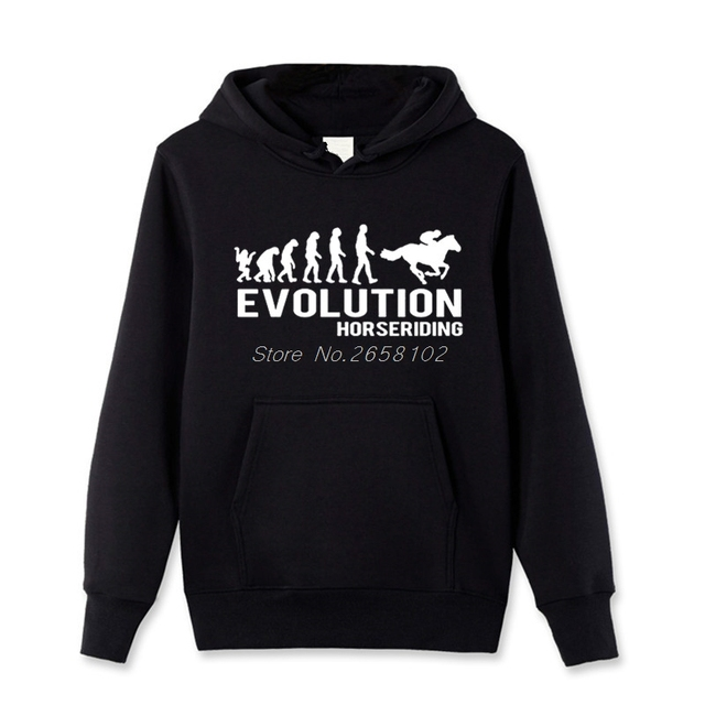 New Personalized Hoody New Evolution Horse Riding Horses Equestrian Hoodies Men Spring Autumn Pullover Sweatshirt