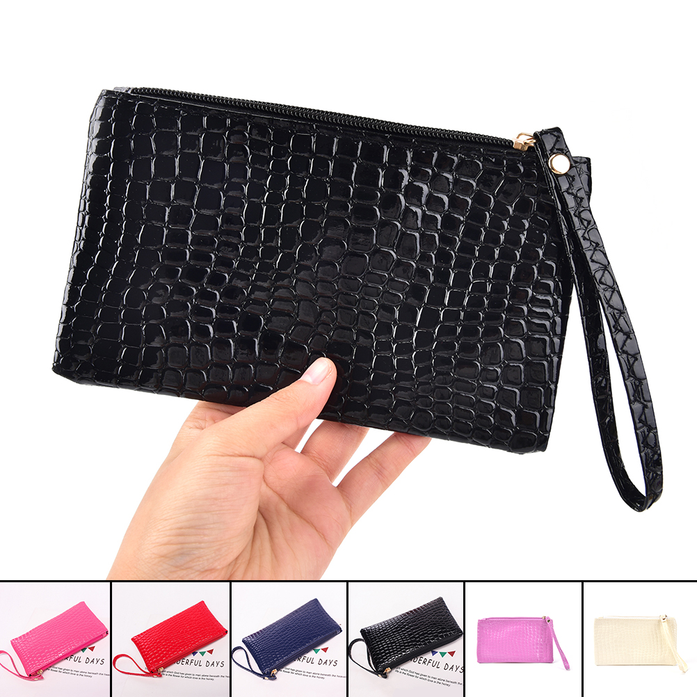 Women Crocodile PU Leather Clutch Handbag Cosmetic Bag Women Handbag Crocodile purse Clutch Bag