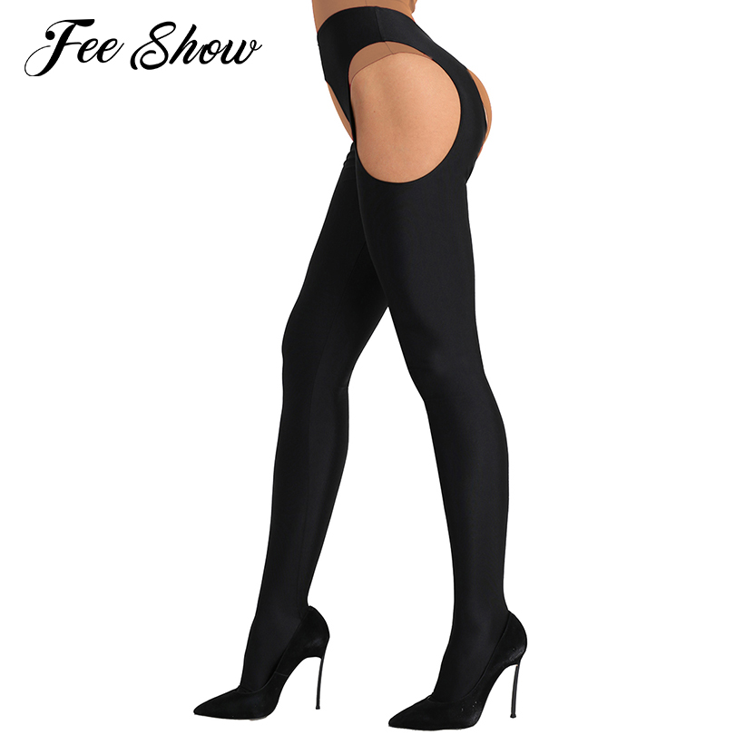 Womens Sexy Lingerie Pantyhose Open Crotch Collant Femme Long Stockings Full-footed Good Stretchy Suspender Tights Bodystockings