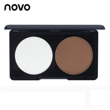 Hot Sale Face Contour Grooming Pressed Powder Professional Two-Color Bronzer & Highlighter Trimming Make Up NOVO Cosmetic Makeup