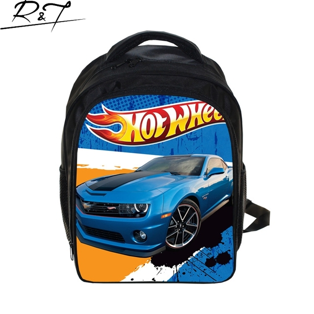 Hot Wheels School Bags for Teenagers 13inch Children Cartoon Prints Bags Boys Girls Kindergarten Daily Mochilas