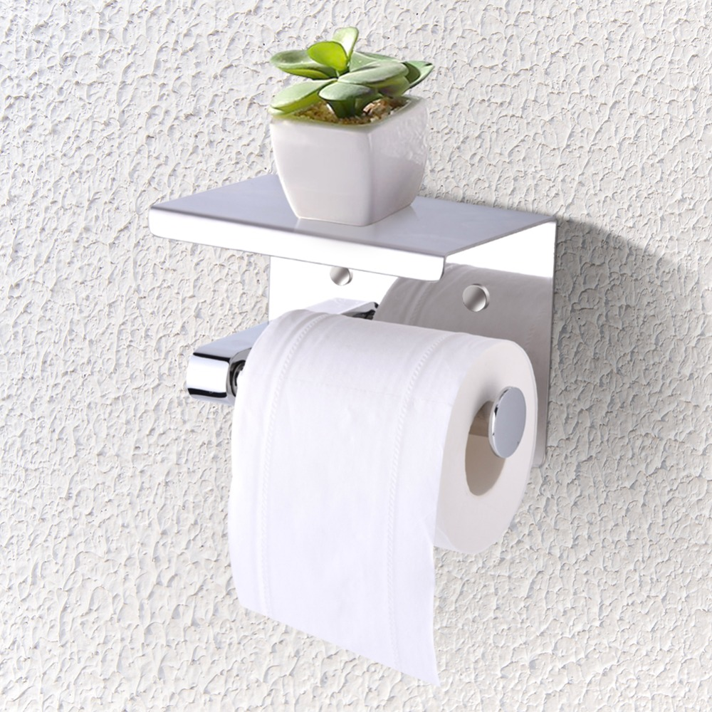 Wall Mounted Tissue Holder Stainless Steel Bathroom Toilet