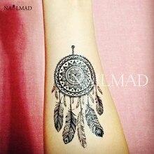 2pcs Dreamcatcher Body Tattoo Waterproof Temporary Tattoo Paste Tattoo Decals Body Art Henna Tattoo Stickers