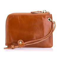 2017 Simple Retro Decorative Rope 100% Genuine Leather Coin Purse Multifunctional Female Women Coin Bag Zero Wallet Short Wallet