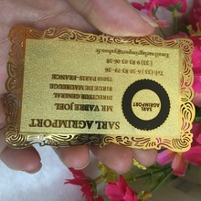 custom golden fancy borders Metal Business Card printing customized personal Visit/vip Card best quality for business card