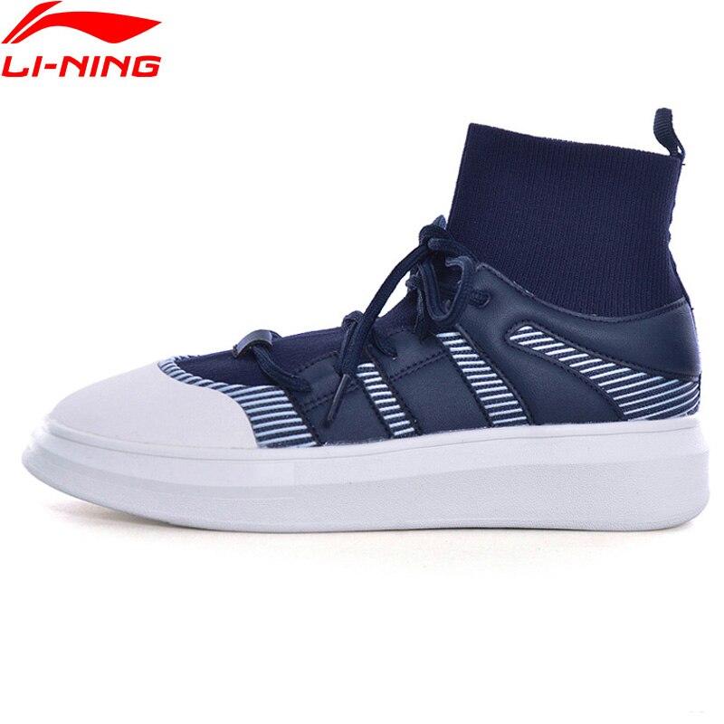 Li-Ning Women Walking Shoes Stylish Sock-Like Sneakers Classic Fitness Support Sports Shoes GLKM144 YXB123