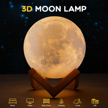 18 cm 3D Print USB Moon Lamp Rechargeable 16/2/3 Color Change Touch Night Light Lunar Luna Baby Nightlight Christmas Home Decor