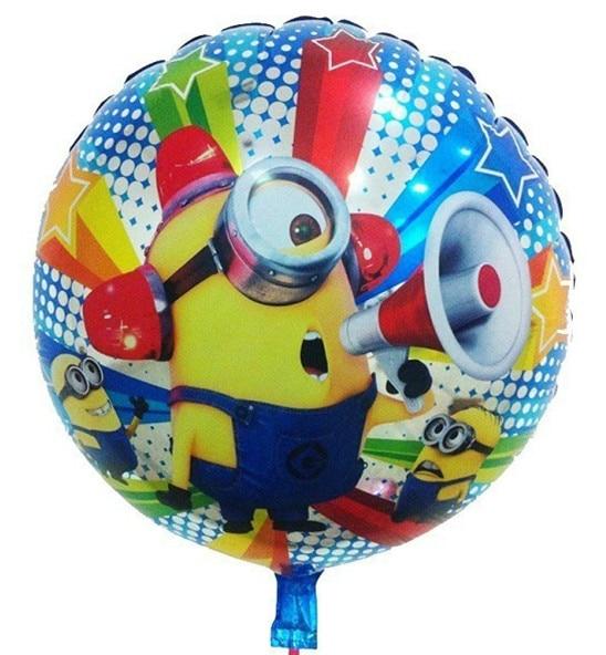 1pcs/lot Best Quality Despicable ME Minion stewart foil balloon Kids happy birth