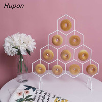 Baking Dessert Donut Display Stand Wedding Decoration Dount Wall Holder Kids Birthday Party Decoration Racks Donut Party Supplie