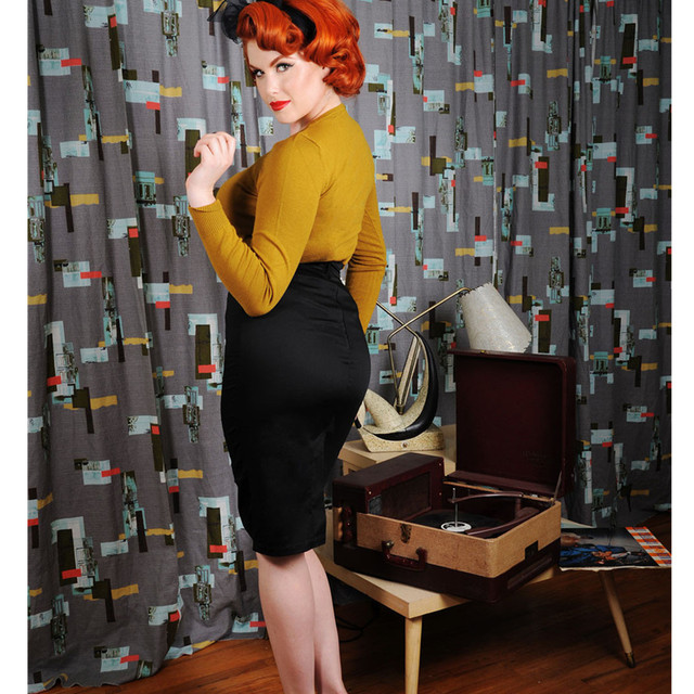 fbb847bc0be 25- classic vintage 50s Audrey Hepburn wiggle pencil skirt in black red  plus size saia pinup elegant work wear skirts faldas