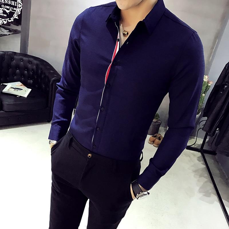 XMY3DWX uomini manica lunga camicia personalità di vendita di marca - Abbigliamento da uomo - Fotografia 4
