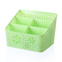 Openwork Nail Desktop Storage Case Scissors Jewelry Pen Brushes Box Plastic Container Manicure Nail Art Desktop Tool