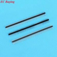 50 pcs 40 Pin 1×40 Single Row 2.54mm Pin Header Conector Banhado A cobre
