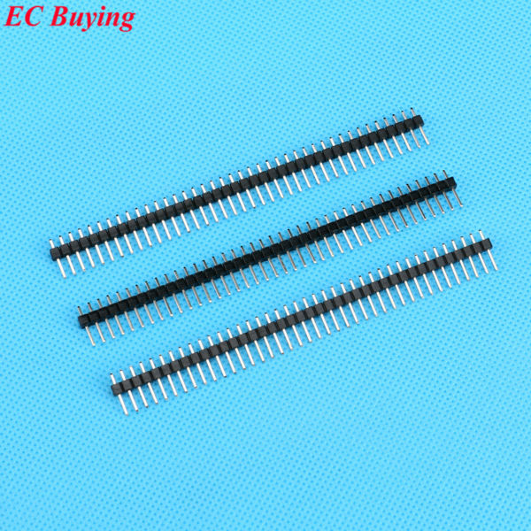 50pcs 40 Pin 1x40 Single Row 2.54mm  Pin Header Connector  Plated copper