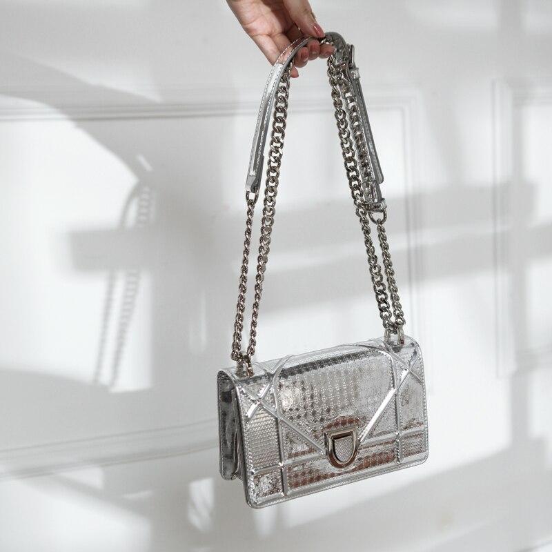 [Hely coptar] 100% Пояса из натуральной кожи 2018 г. новые зимние мини цепи сумка Для женщин сумка женская сумочка улочка стиль