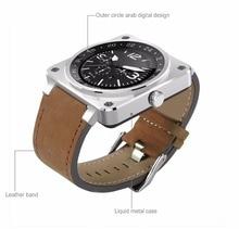 Bluetooth smart watch b3 extrema fina negócio pulseira de couro full hd ips tela totalmente compaticable esporte smartwatch pk v365 k8