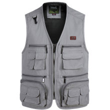 New Mens Photographer Vest Multi-Pockets photography Vests Shooting Waistcoat Walking Travel S-4XL