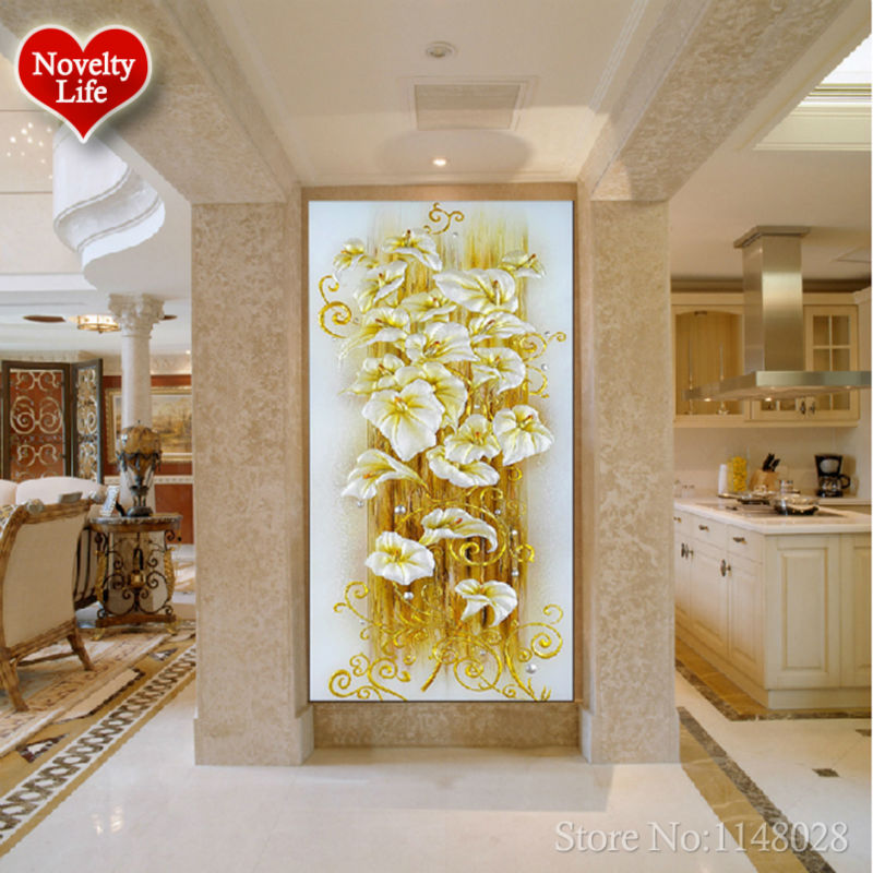5D DIY diamond Painting Cross Stitch Crystal Lily Flower Decorative ...