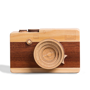 Gift for girlfriend Camera design Wooden Music Box hand cranked valentines day gift for boyfriend anniversary present new year