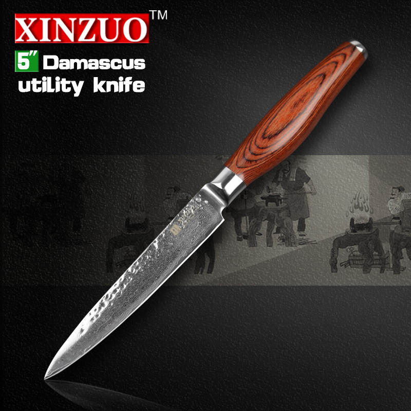 2015 NEW 5 Multi purpose font b knife b font Damascus kitchen font b knives b