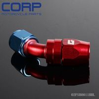 AN8 AN-8 8 AN 45 Degree Swivel Fitting Hose End Adaptor AN-8 BL