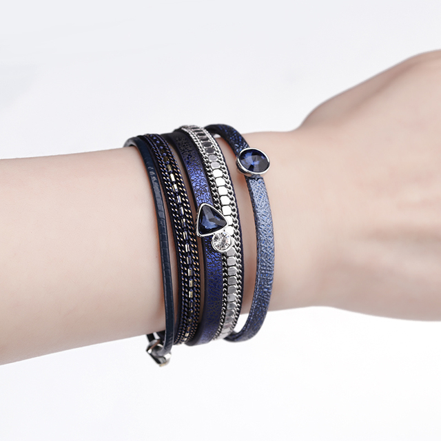 Crystal Charm Bracelet product on woman's wrist for display