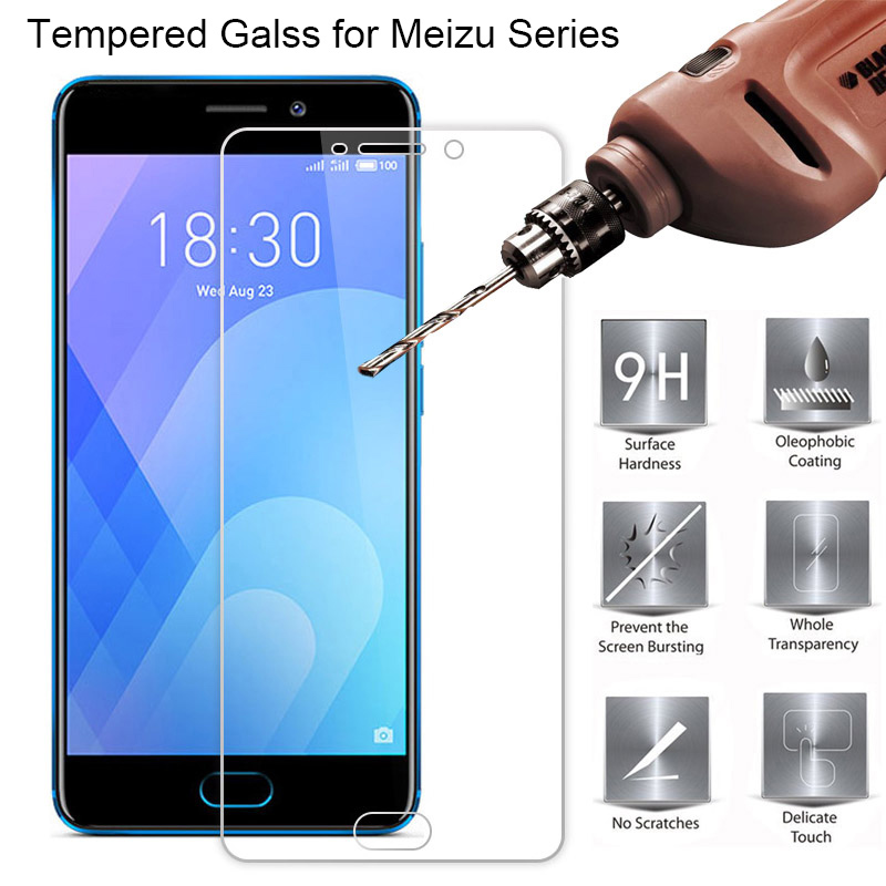 Tempered Glass for Meizu M3S M5S M5C M3 M5 Note 9H HD Screen M15 Plus M1 M2 Protector on M6 M6S