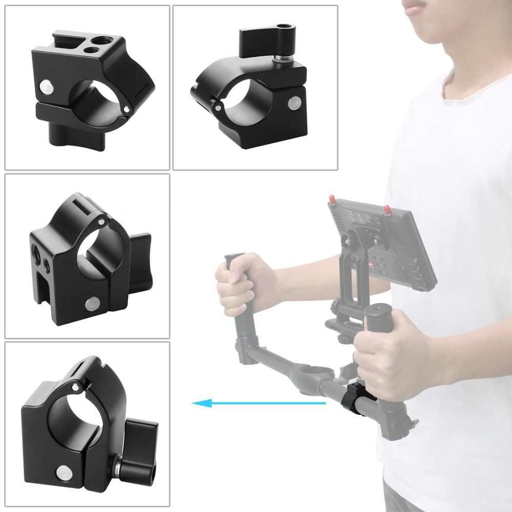 אלומיניום 22mm 25mm מוט מהדק צג הר Bracket מחזיק קליפ קר נעל מתאם עבור DJI ללא מעצורים M/zhiyun Feiyu Gimbal מייצב