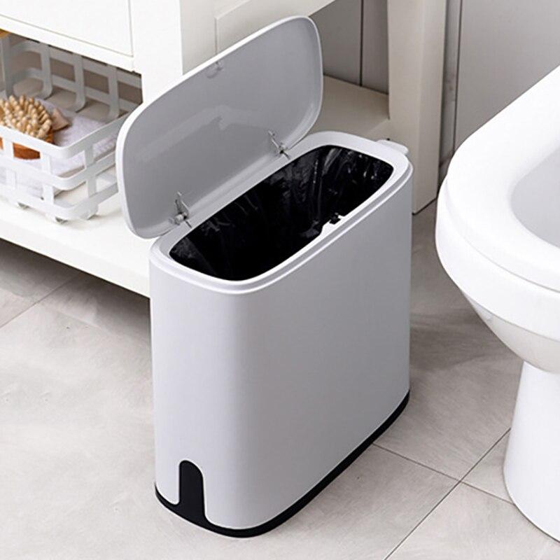 10 л узкая пластиковая мусорная корзина для ванной комнаты мусорная корзина мусорные баки мусорное ведро мусорный мешок диспенсер