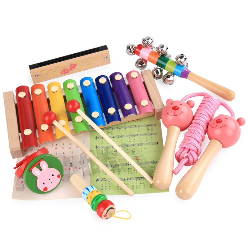 Free shipping Baby Wooden Early childhood education six ...