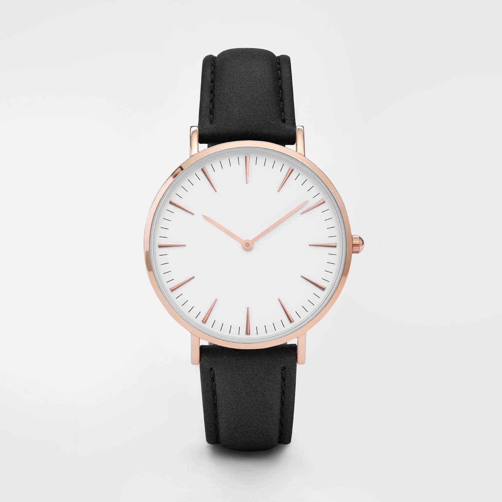 Clásico femenino marca reloj de oro rosa de moda relojes de mujer cómodos de cuero de las señoras vestido reloj mujer dropshipping. exclusivo. reloj