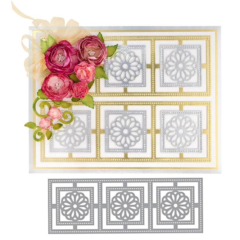 Flower Frame Metal Cutting Dies for Scrapbooking Card Album Embossing Crafts