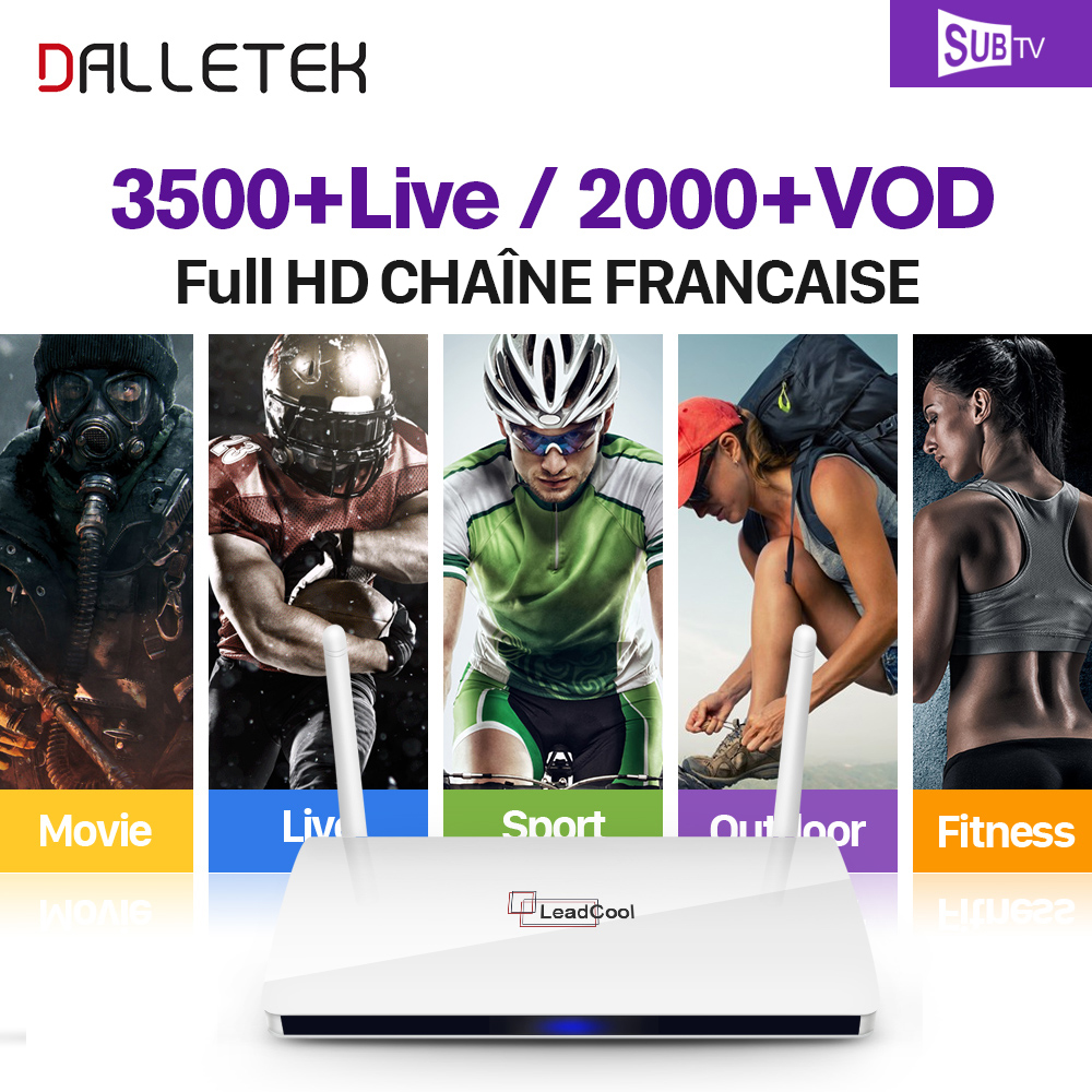 Leadcool IPTV STB Android TV Box Dalletektv Arabic French 3500 Channels SUBTV IPTV 1 Year Subscription Europe Arabic IPTV Box dalletektv leadcool iptv smart android tv box h265 stb with iptv europe arabic qhdtv iudtv account iptv 1 year subscription