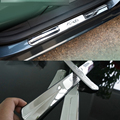 Stainless Steel Door Sill Scuff Plate Trim for Ford Fiesta sedan hatchback 2010 2011 2012 2013 2014