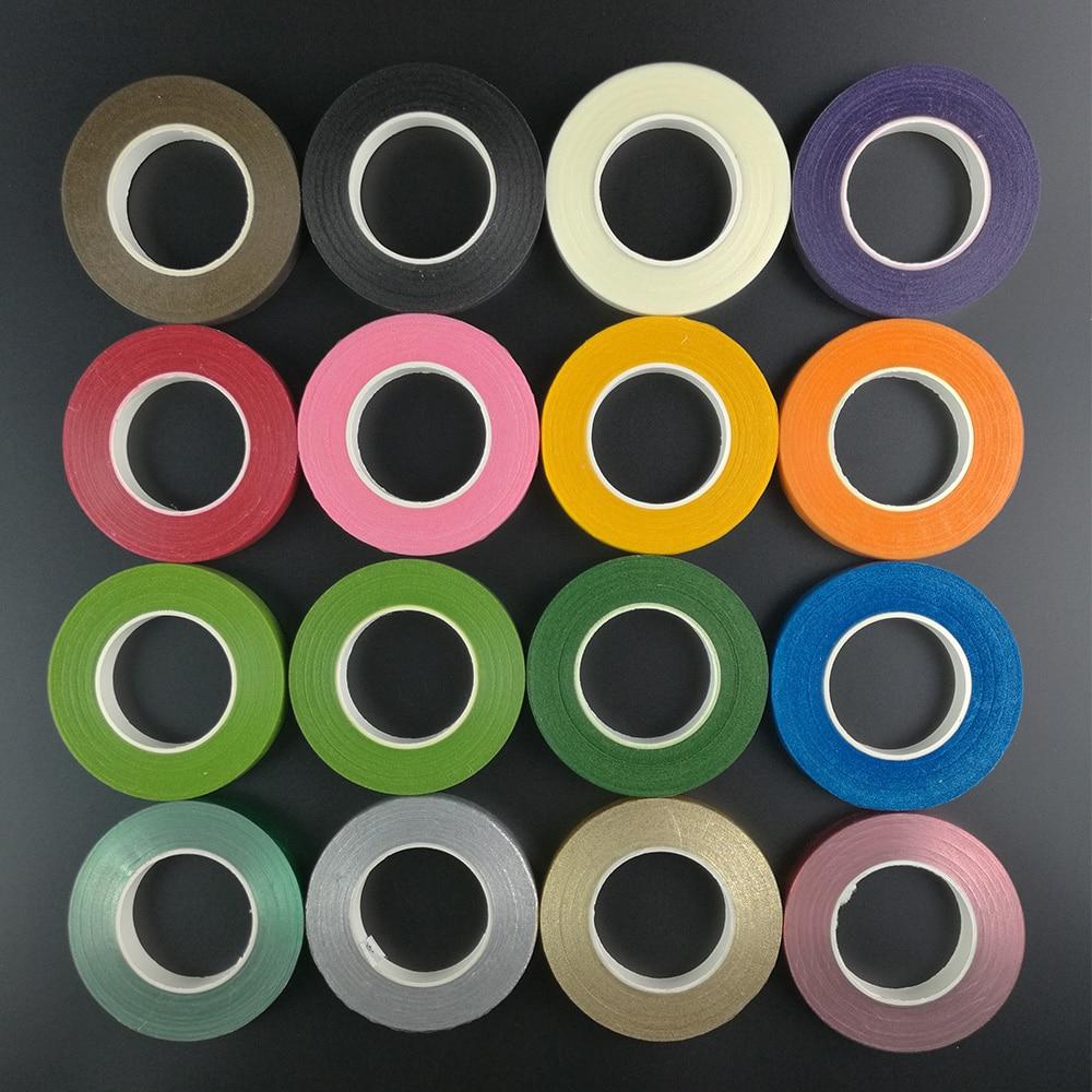 1 шт. 30 ярдов 12 мм бумажная лента Цветочная лента для ствола крафт рулон темно-зеленый искусственный цветок Букет стволовых обертывание клей...