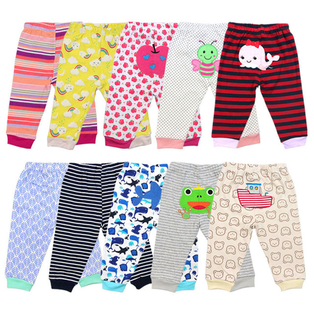 100% Cotton Baby's Pants with Cartoon Print 3