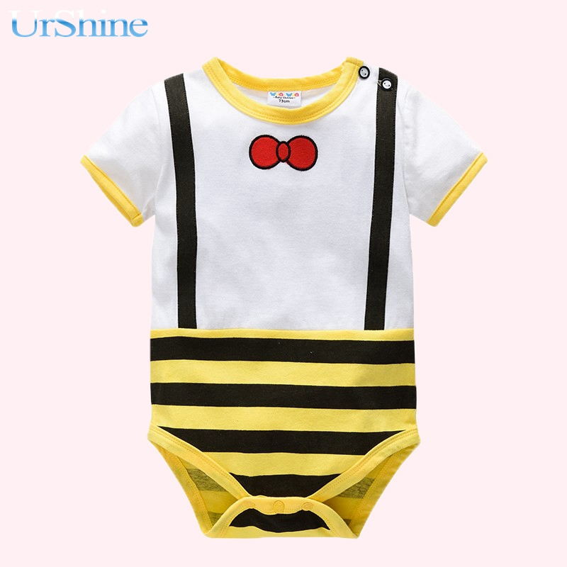 2018 Navy Bllue One Piece Thin Jumper Newborn Cotton Clothing For Spring Summer Clothes Lovely Animal Suspender Ropa