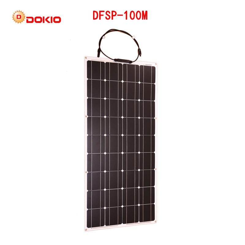 Dokio-12V-100W-Monocrystalline-Flexible-Solar-Panel-For-Car-Boat-High-Quality-Flexible-Panel-Solar-100w