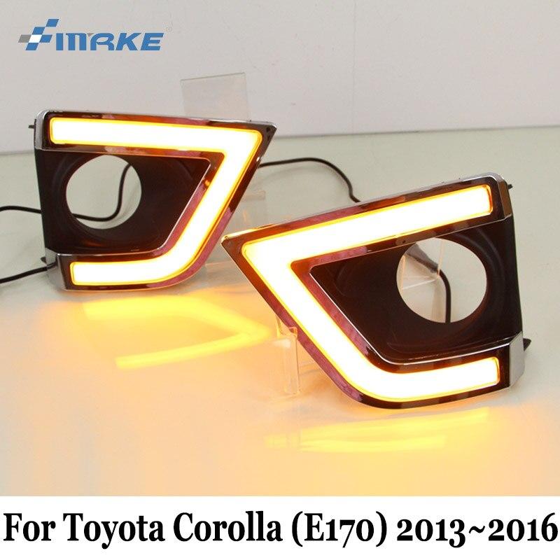 SMRKE ДХО для Тойота Королла Е170 2013~2016 / автомобиль дневные ходовые свет & указатель поворота / 3 Цвет стайлинга автомобилей противотуманная фара Рамка